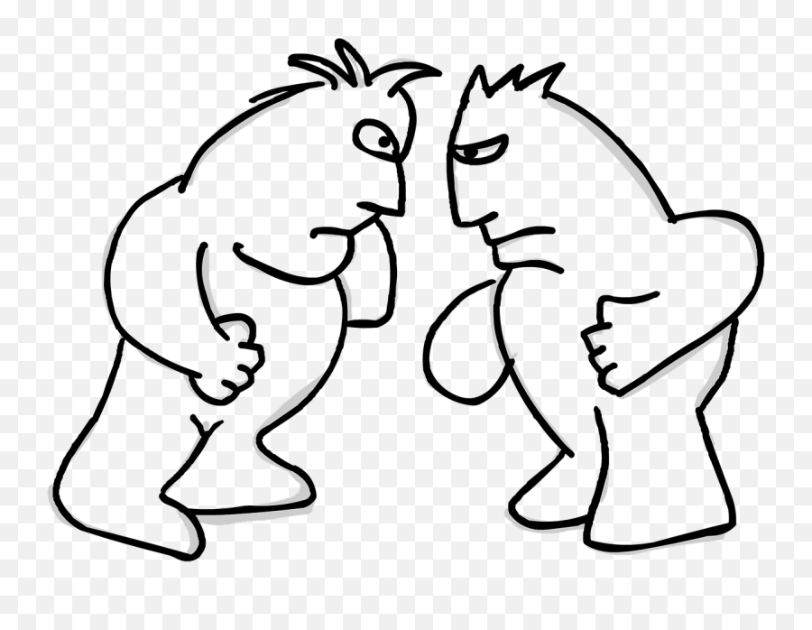 Antagonism Fight Fighters The Fighters - Not Afraid Of Conflict Clipart Emoji