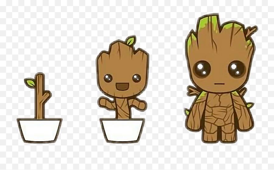 Groot Marvel - Groot Cartoon Emoji,Groot Emoji
