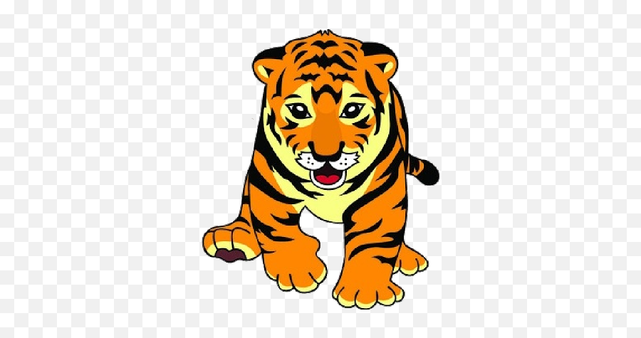 Tiger Clipart Nice Coloring Pages For Kids - Clipart Picture Of Tiger Emoji,Tiger Emoji