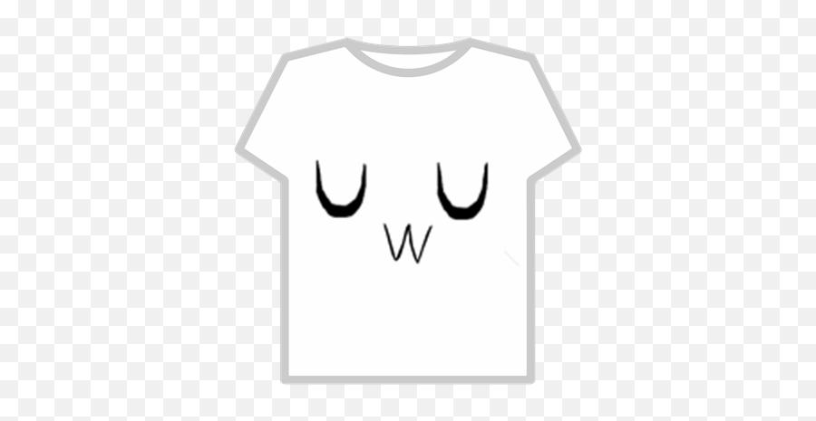 Uwu Face - T Shirt For Roblox Emoji