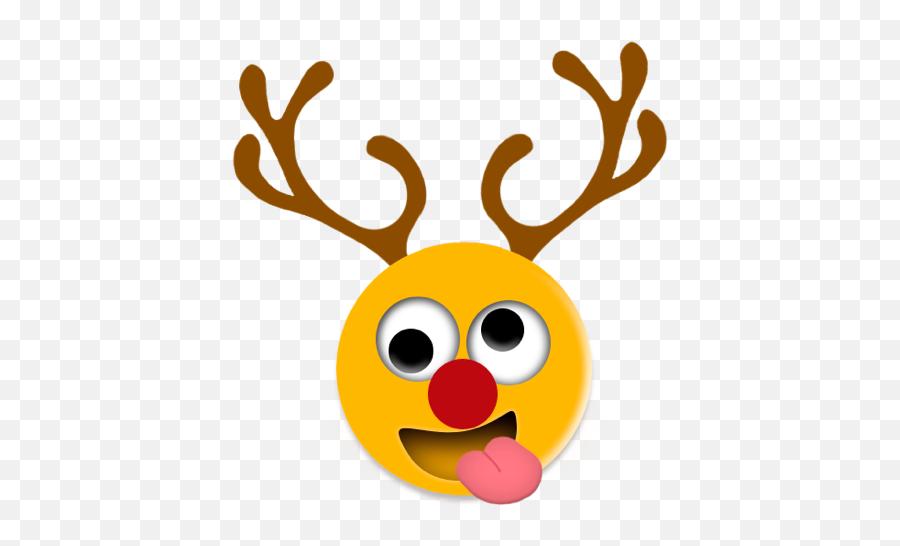 Crazy Smilez By Tyler Middleton - Christmas Reindeer Emojis,Deer Emoji Iphone