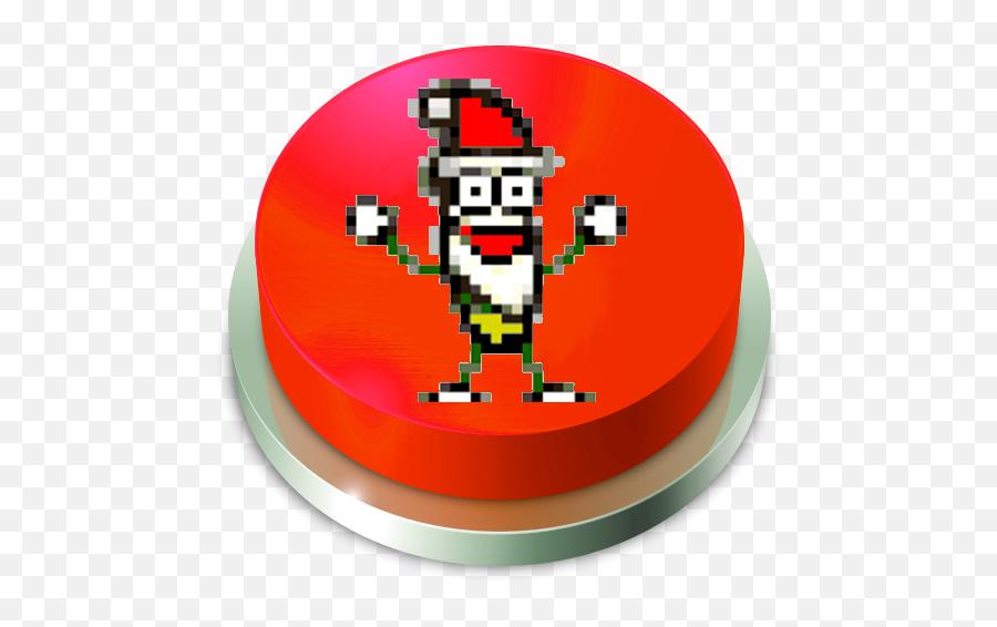 Santa Claus Banana Jelly Button - Circle Emoji,Santa Clause Emoticon