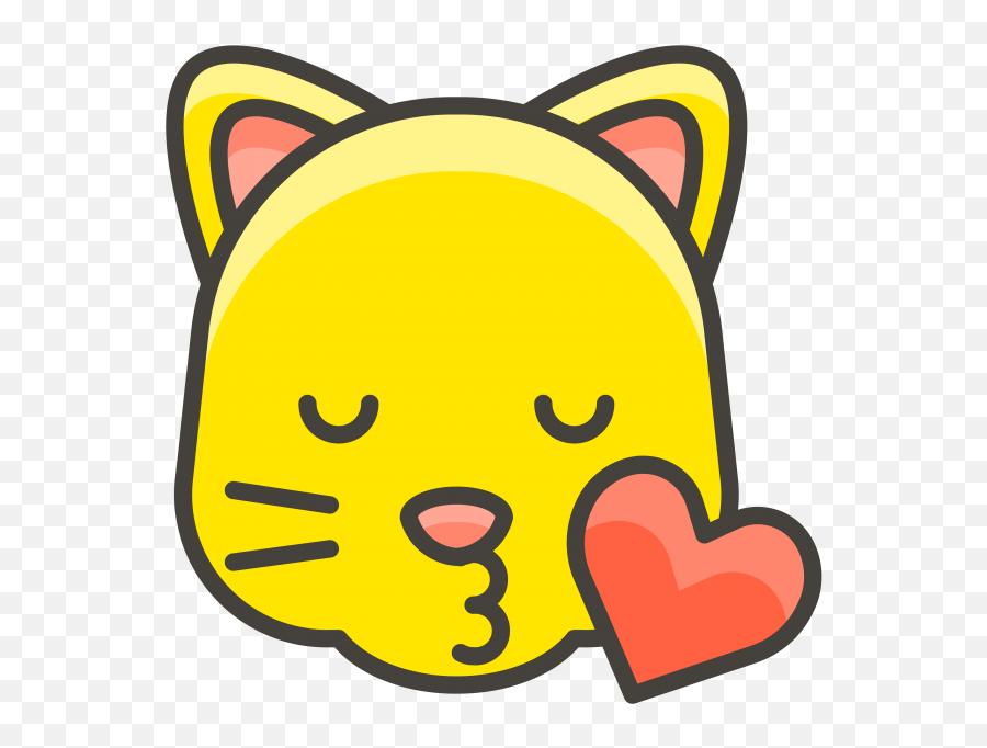 Kissing Cat Face Emoji Clipart - Cat Face Emoji Vector,Cat Emoji Png