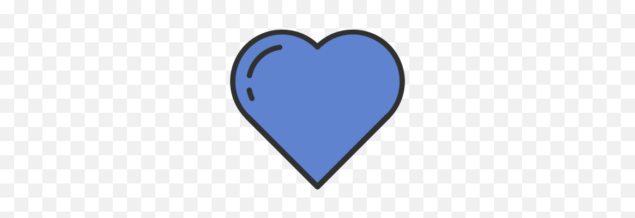 Blue Heart Icon On Android At Getdrawings - Blue Transparent Background Emoji Hearts Png