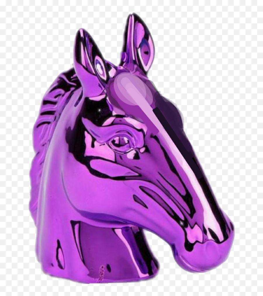 Waporwave Unicorn Violet Emoji Heart - Aesthetic Vaporwave Transparent Png,Donkey Emoji Iphone