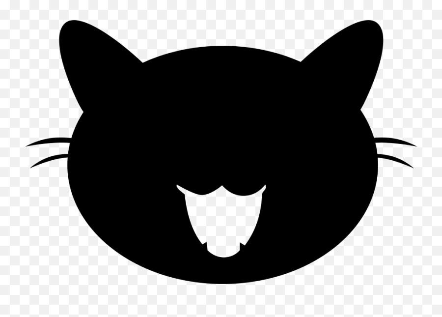 Black Cat Vector - Transparent Background Cats Vector Png Emoji,Cat Emoji