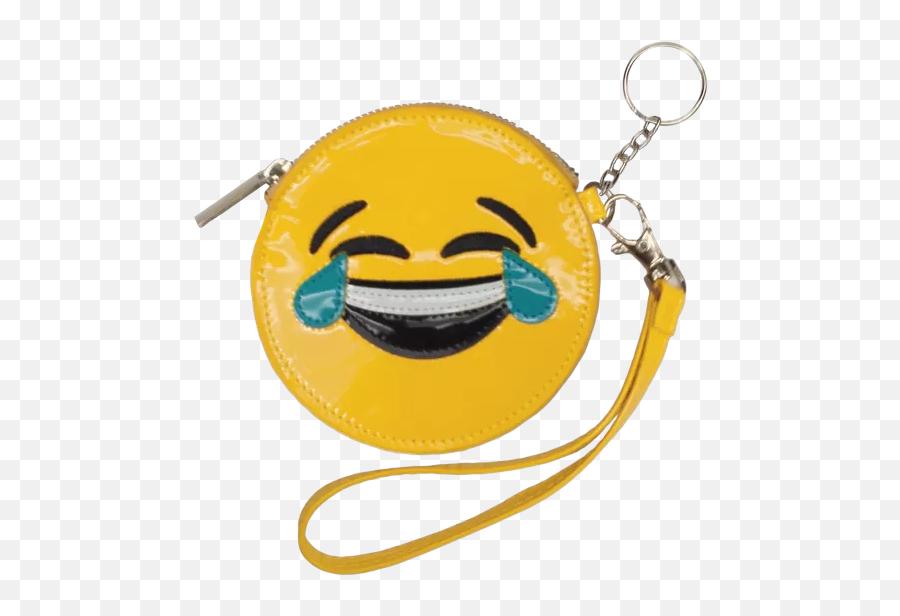 Happy Tears Emoji Purse Key Chain - Handbag