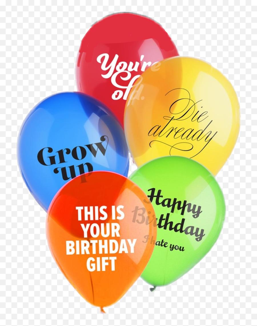Birthday Balloons Sarcastic - Jerk Balloons Emoji