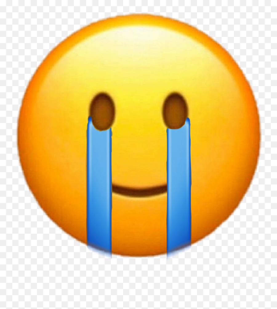 Crying Happy Smiling Tears Iphone - Happy Emoji