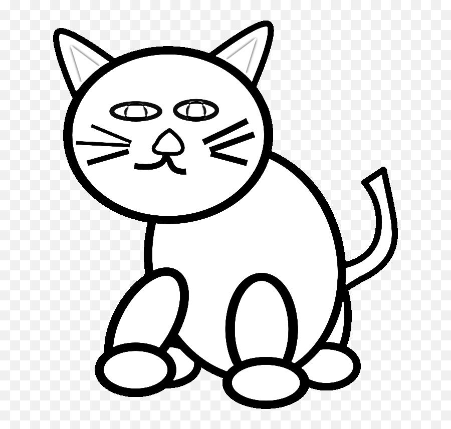 Kittens Clipart Traceable Kittens - Cat Black And White Clip Art Emoji,Black And White Cat Emoji