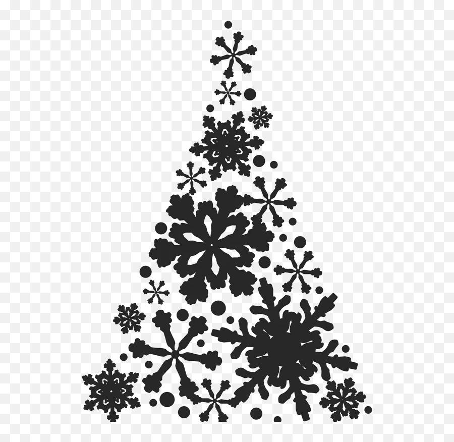Snowflake Christmas Tree Stamp - Christmas Pictures For Posters Emoji,Christmas Tree Emojis