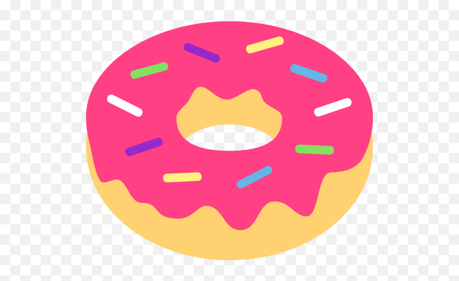 Emojione 1f369 - Transparent Background Donut Clipart Emoji