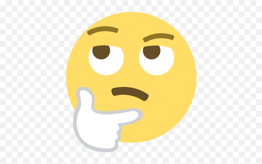 Thinking Face Emoji Emoticon Vector Icon - Emoticon Intrigué,Thinking Emoji