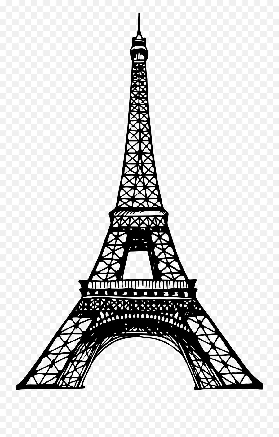 Eiffel Tower Clipart Silhouette - Clip Art Transparent Background Eiffel Tower Emoji,Eiffel Tower Emoji