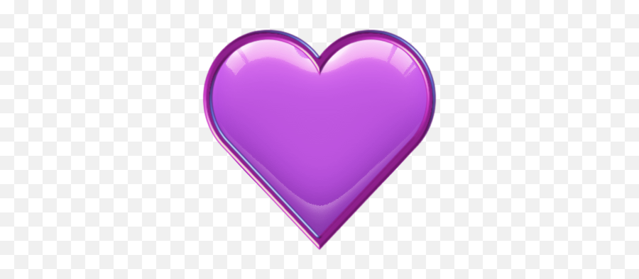 Purple Gloss - Heart Emoji