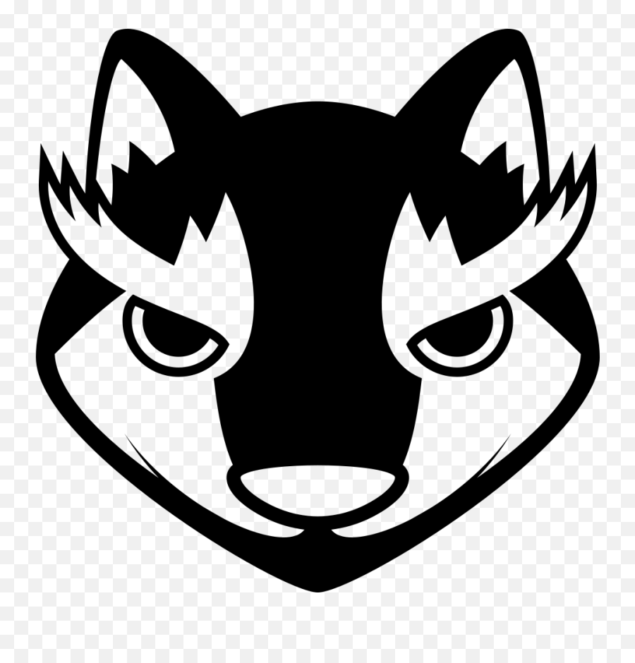 Emojione Bw 1f43a - Cute Wolf Face Cartoon Emoji,Black Cat Emoji