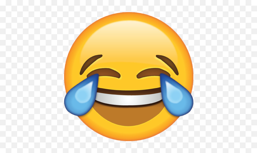 Yellow Laughing Emoji Transparent Png - Laugh Tears Emoji Png,Laugh Cry Emoji Transparent