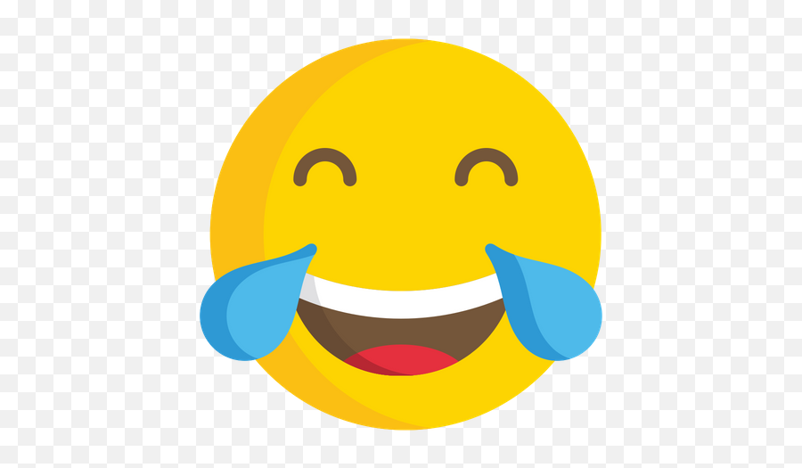 Face With Tears Of Joy Emoji Icon Of Flat Style - Laughing Emoticon Deep Fried,Flushed Face Emoji