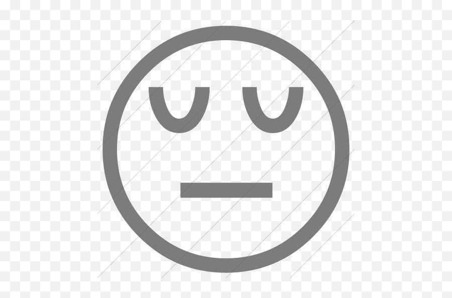 Classic Emoticons Pensive Face Icon - Emoji
