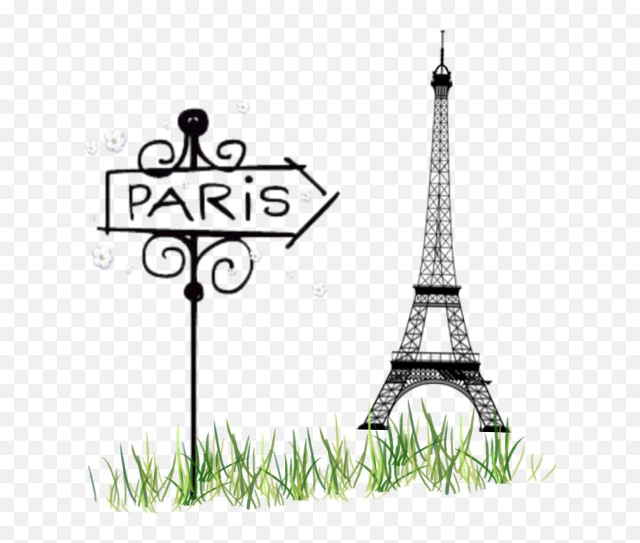 Paris Eiffeltower Eiffel Tower Grass Sign - Tower Emoji,Eiffel Tower Emoji
