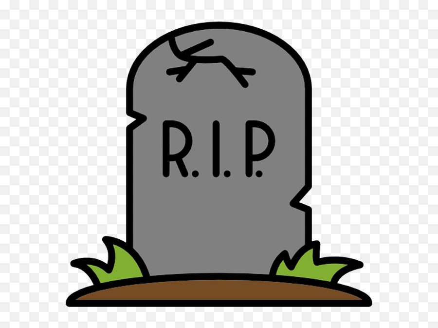 Dead Clipart Tombstone Dead Tombstone Transparent Free For - Rip Emoji