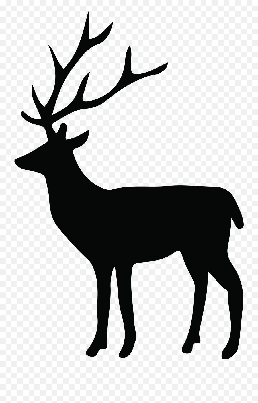 Deer Silhouette Transparent Background - Transparent Deer Silhouette Png Emoji,Deer Hunting Emoji