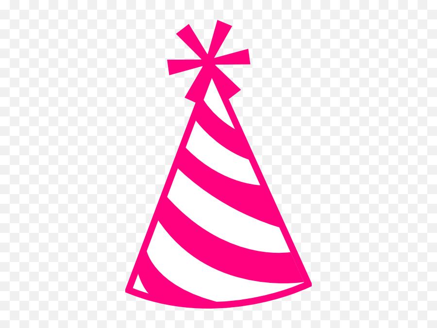 Pink Birthday Hat Clipart - Birthday Hat Clipart Emoji