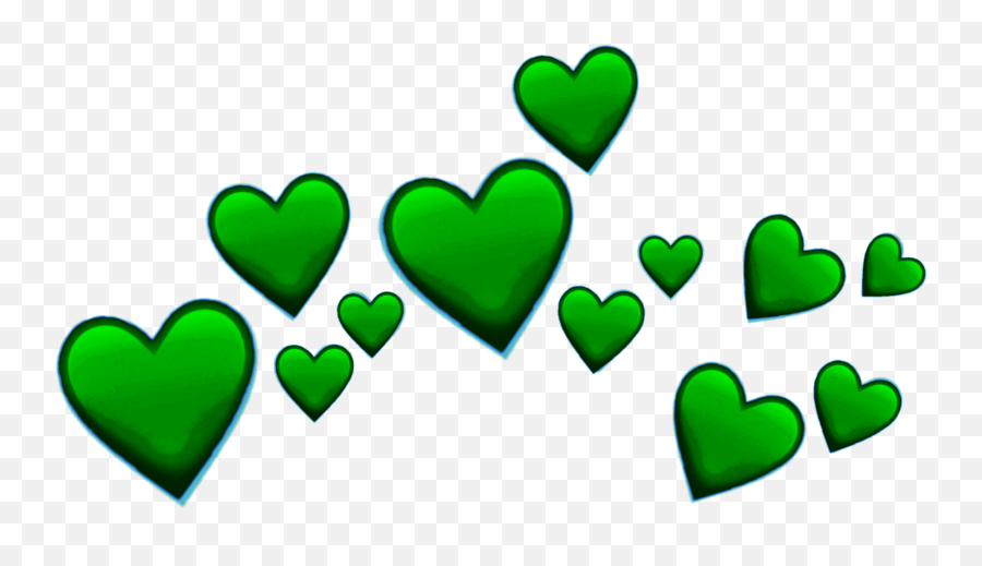 Trending Greenheart Stickers - Green Heart Emoji Png