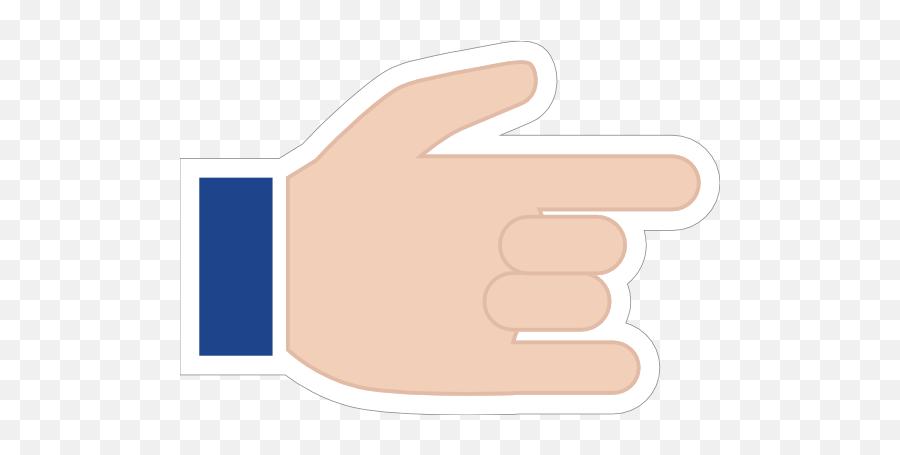 Hands Devil Horns With Thumb Up Emoji Sticker - Sign