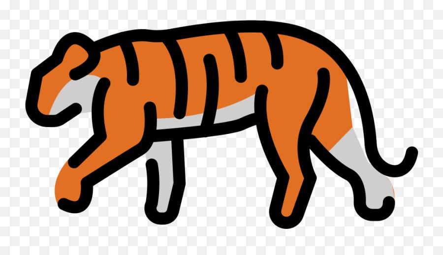 Openmoji - Clip Art Emoji,Tiger Emoji