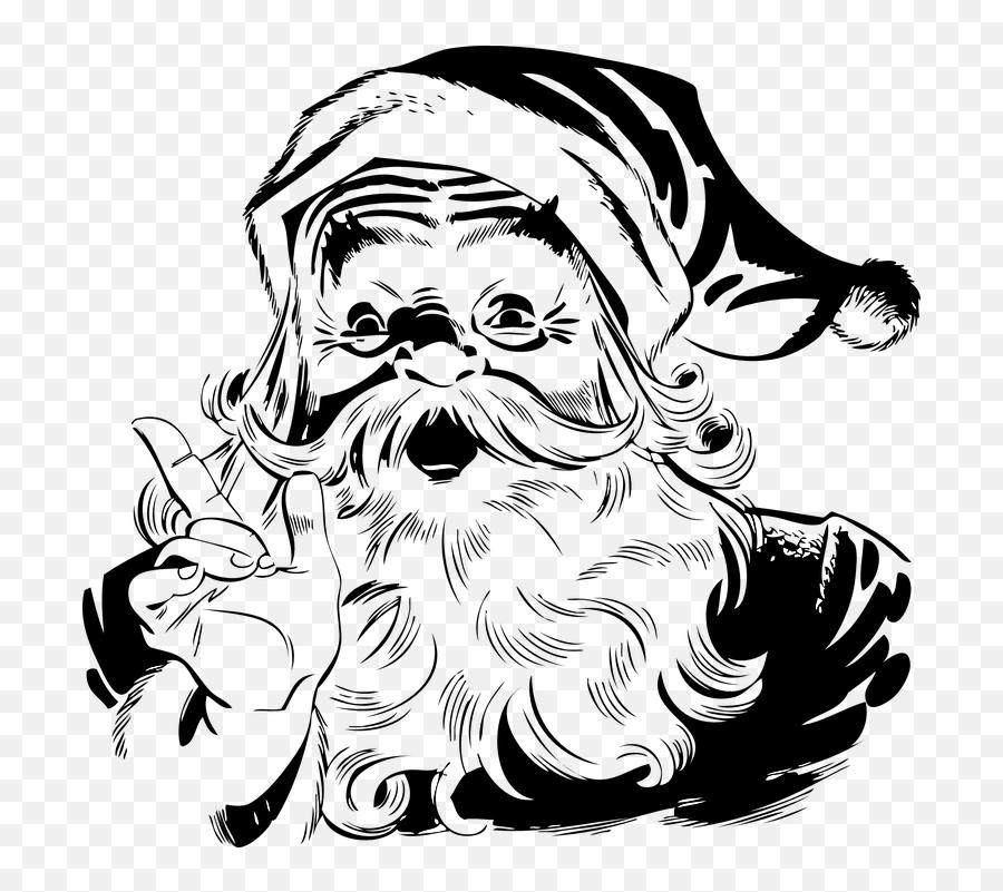Santa Claus Christmas Vectors - Santa Claus Clipart Black And White Emoji,Santa Clause Emoticon