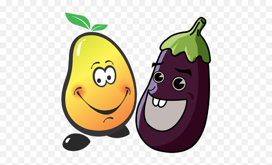 Amazoncom Fruits and Vegetables For Kids Appstore for Android - Talking Eggplant Emoji