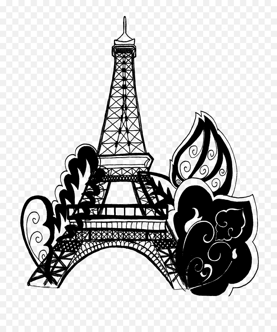 Free Eiffel Tower Vector Download Free Clip Art Free Clip - Drawing Eiffel Tower Coloring Pages Emoji,Eiffel Tower Emoji