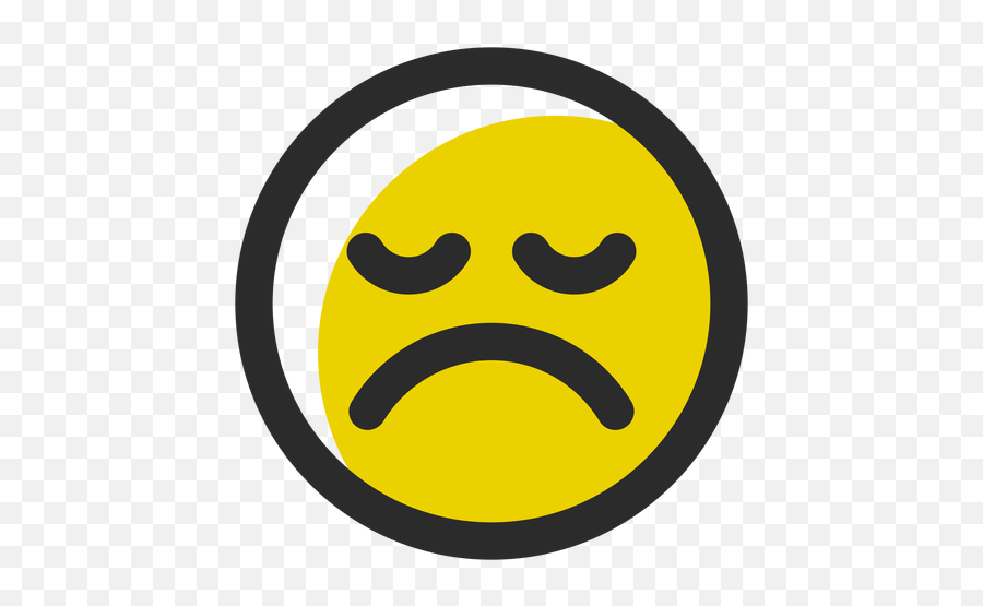 Disappointed Colored Stroke Emoticon - Smiley Emoji,Disappointed Emoticon