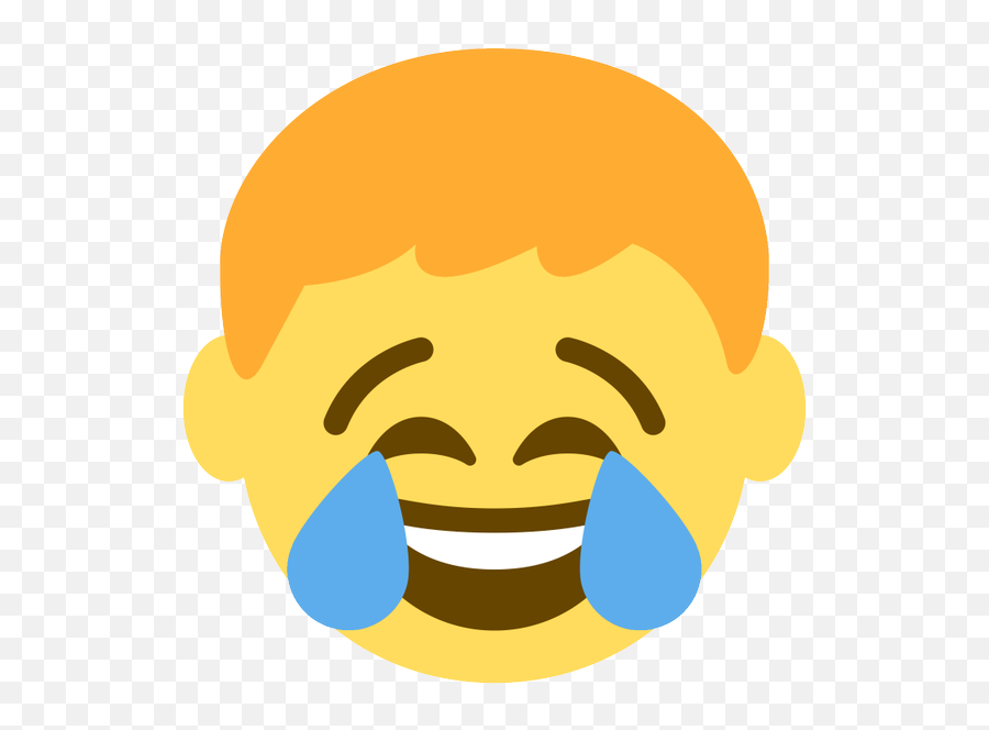 Emoji Face Mashup Bot On Twitter Boy Face With - Happy,Emoji Tears Of Joy