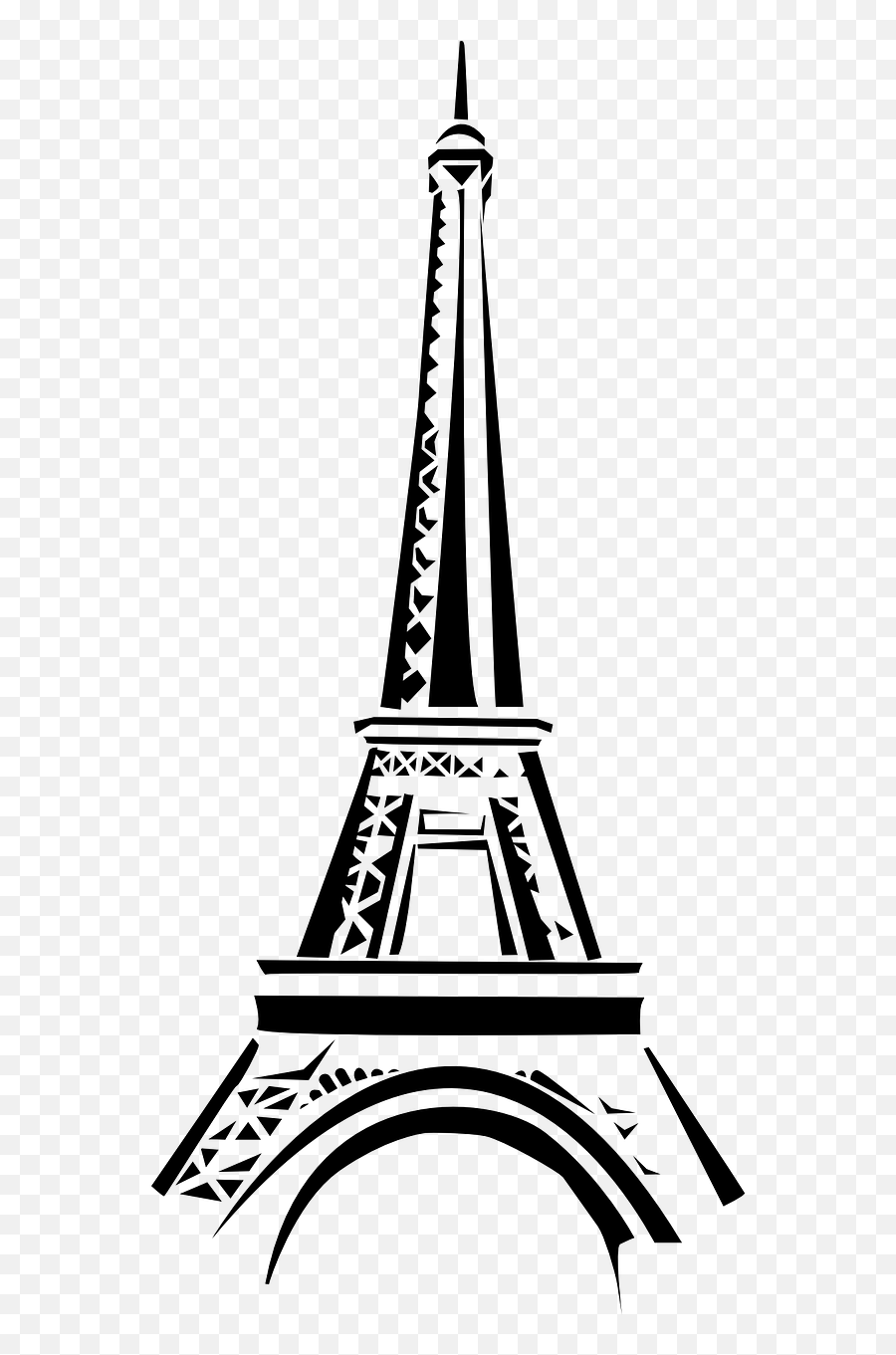 France Clipart Attraction France France Attraction France - Eiffel Tower Black And White Drawing Emoji,Eiffel Tower Emoji