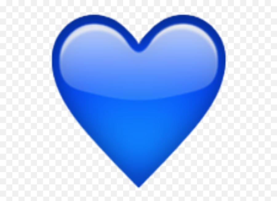 Emoji Heart Sticker Love Emoticon - Transparent Blue Heart Emoji