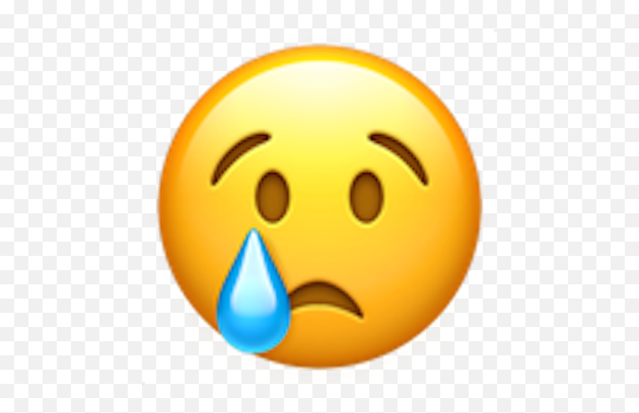 Upset Emoji Png Picture - Whatsapp Crying Emoji,Disappointed Emoticon