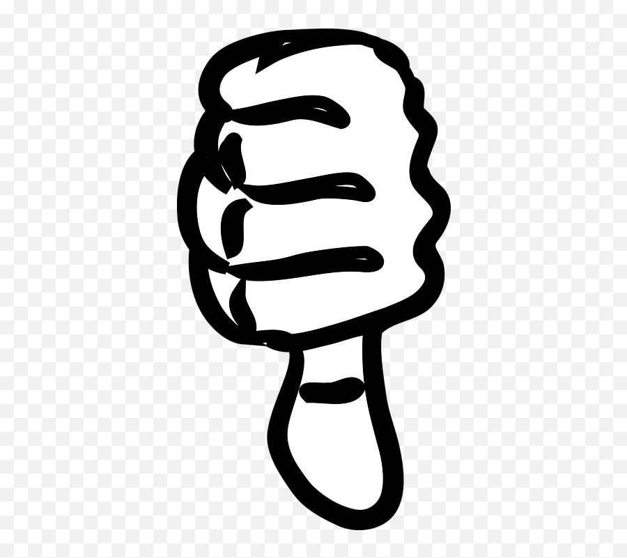 Thumbs Down Incorrect Dislike - Black And White Thumb Down Clipart Emoji