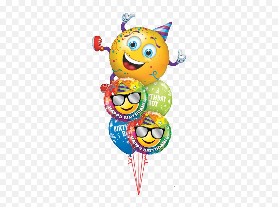 Cute Happy Birthday Balloon - Smiley Party Emoji