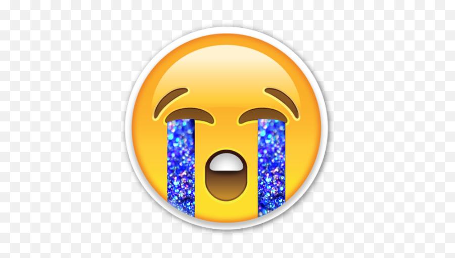 When Something Makes U Sad - Emoji Crying Holo Tears,Sobbing Emoji