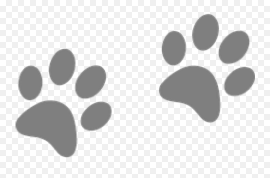Dog Dogs Prints Footprints Paws Paw - Paw Print Clip Art Emoji