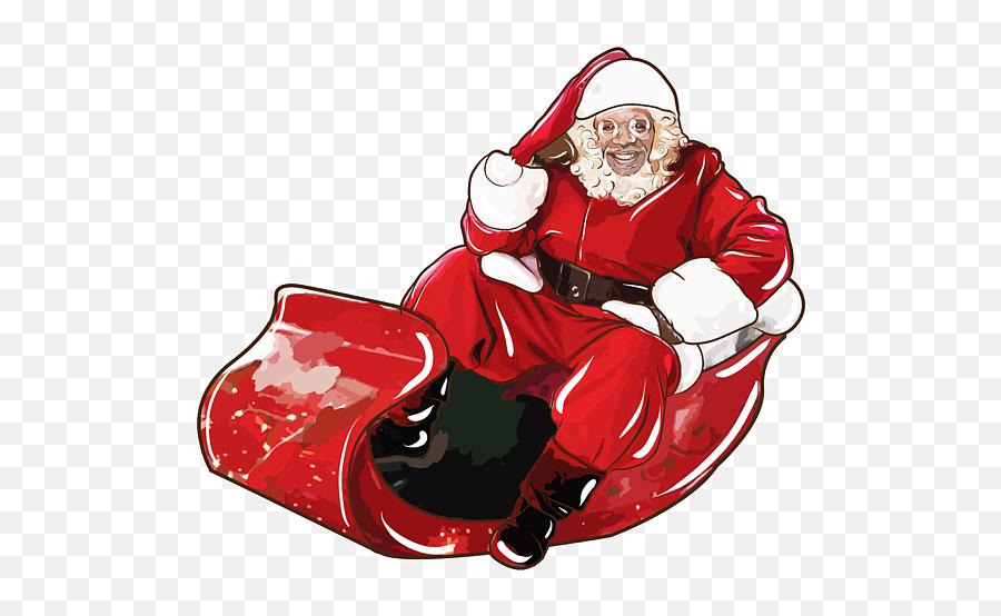 Christmas Santa Claus In Sleigh Iphone - Santa Claus Drawing In Sleigh Emoji,Santa Emoji Iphone