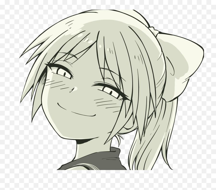 Smug Anime Trap Girl Png Download Anime Girl - Smug Face Anime Girl Emoji,Smug Face Emoji