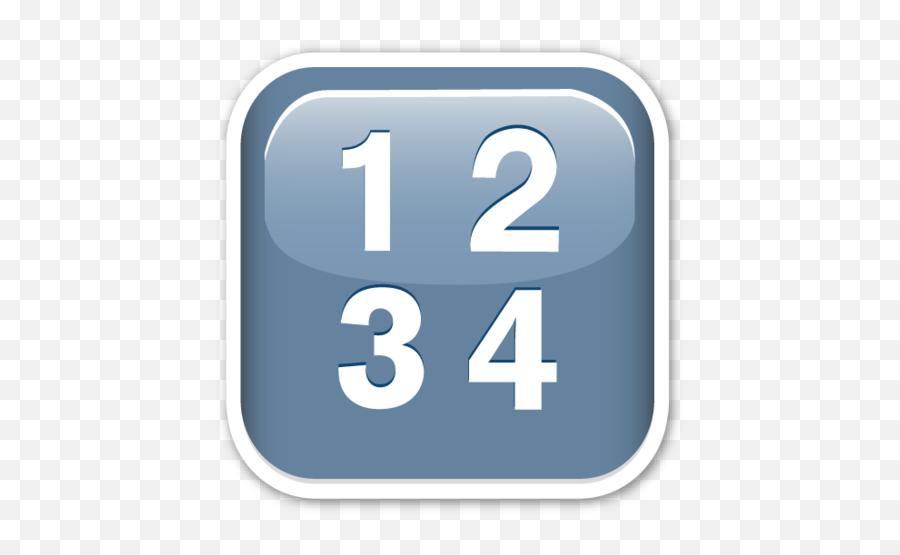 Input Symbol for Numbers - Input Symbol Emoji