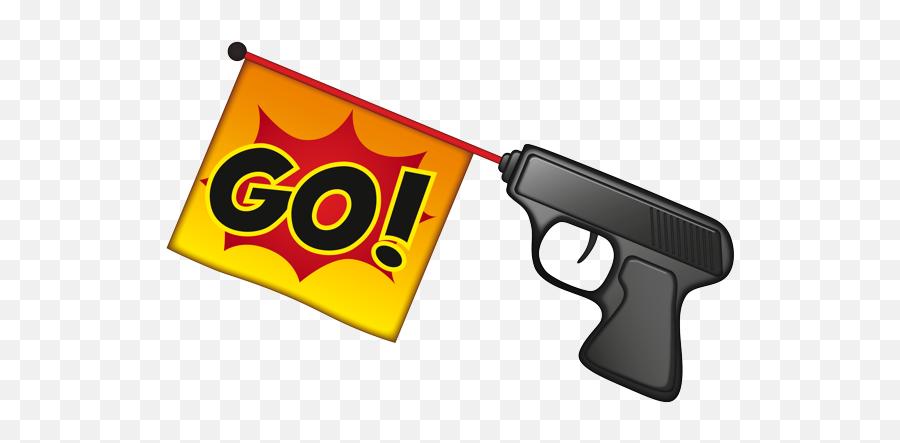 Emoji - Start Gun Icon Transparent,Gun Emoji