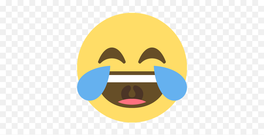Face With Tears Of Joy Emoji Transparent Png - Laugh Sticker Png,Tears Emoji