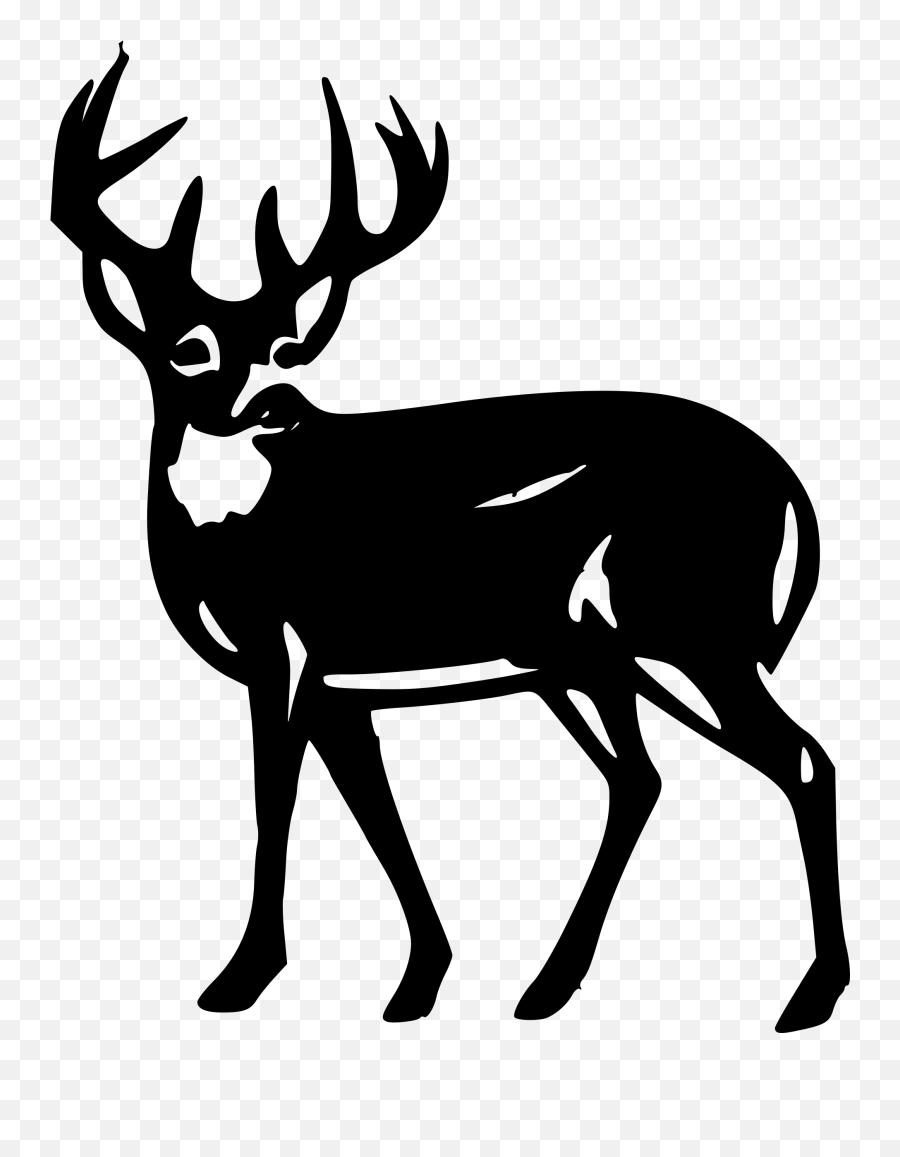 Deer Silhouette - White Tailed Deer Silhouette Emoji,Deer Hunting Emoji