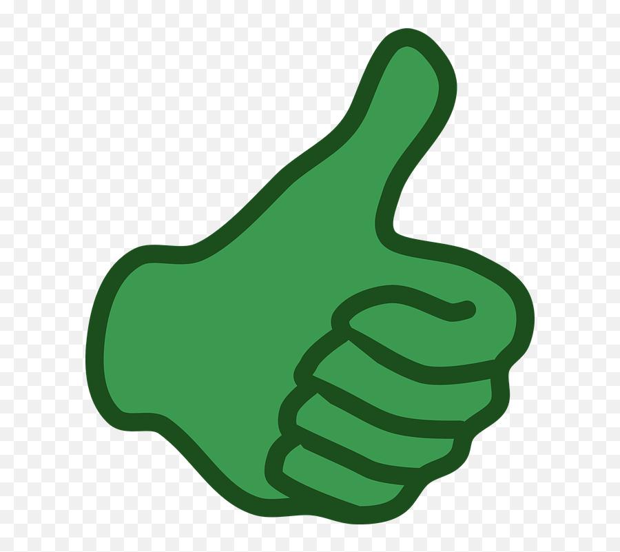 Hand Like Thumb - Green Thumbs Up Clip Art Emoji