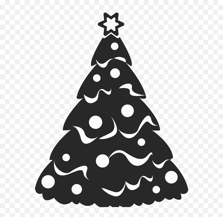 Snowy Christmas Tree Rubber Stamp - Christmas Tree Decal Emoji,Christmas Tree Emojis